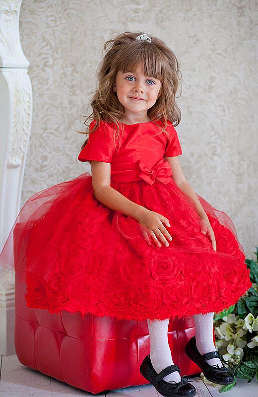красное платье для девочки на праздник
