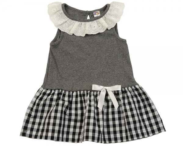 1729b79a867c9 Платье с бантиком (92-116см) Mini-Maxi 1840 граф/клетка UD 1840 граф ...
